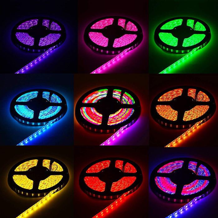 DC 5V SK6812 Individually Addressable LED Strip Light 5050 RGBW 16.4 Feet (500cm) 60LED/Meter LED Pixel Flexible Tape White PCB - LEDStrips8