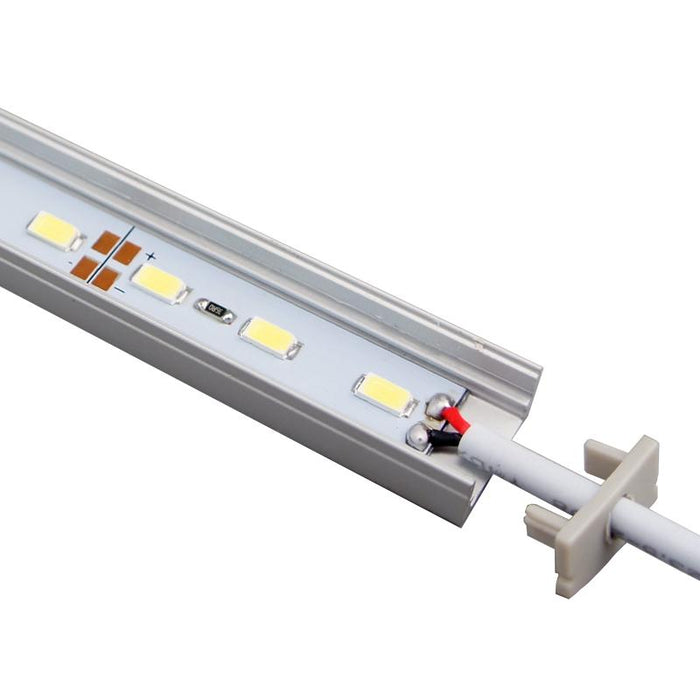 5 / 10 Pack 12V DC LED Surface Linear Profile LED Light Strip in Aluminum Profile with Cover for Under Cabinet Lighting - LEDStrips8