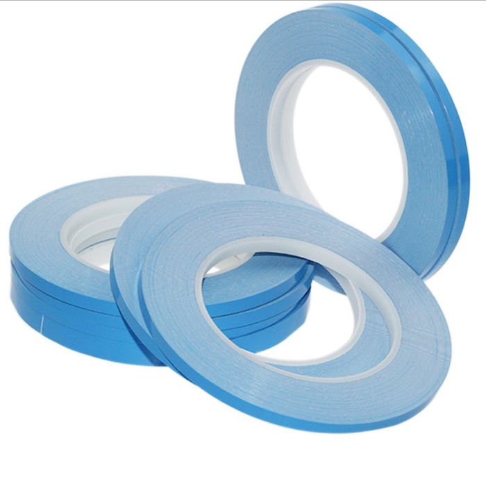 50M Roll 0.2mm Thick 2500g Viscous Force Heat Resisiting Blue Coating Double Sided Tape Adhesive Stronger Stick for LED Strip Lights - LEDStrips8