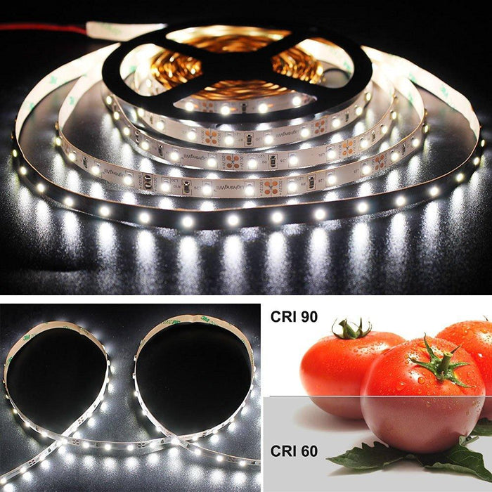 High CRI > 90 DC 12V SMD3528-300 Flexible LED Strips 60 LEDs Per Meter 8mm Width 300lm Per Meter - LEDStrips8