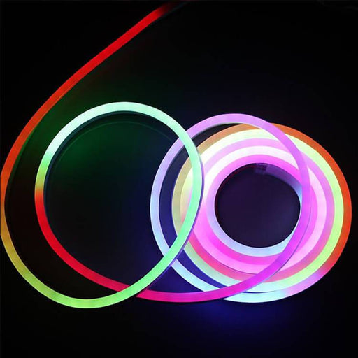 AC 110V / 220V IP65 High Voltage RGB Color Changing Neon Strip Light with the power plug - LEDStrips8