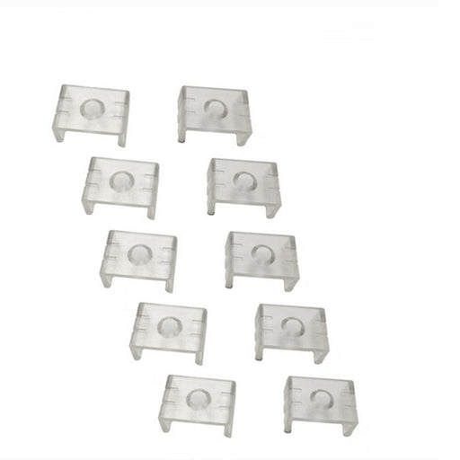 10pcs Clear Plastic U or V Mounting Clips for U-Shape and V-Shape LED Strip Aluminum Channel (Fit Model U01, U02, U03, U04, U05, U06, V01, V02,V03) - LEDStrips8