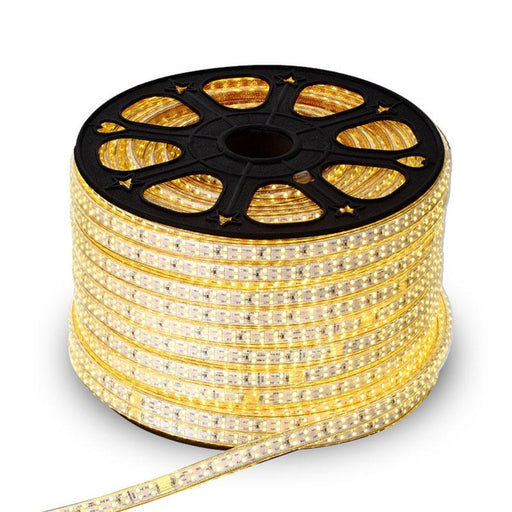 AC 110V / 220V SMD2835 High Voltage Flat Strip Light 180 LEDs Per Meter Double Row with the power plug - LEDStrips8