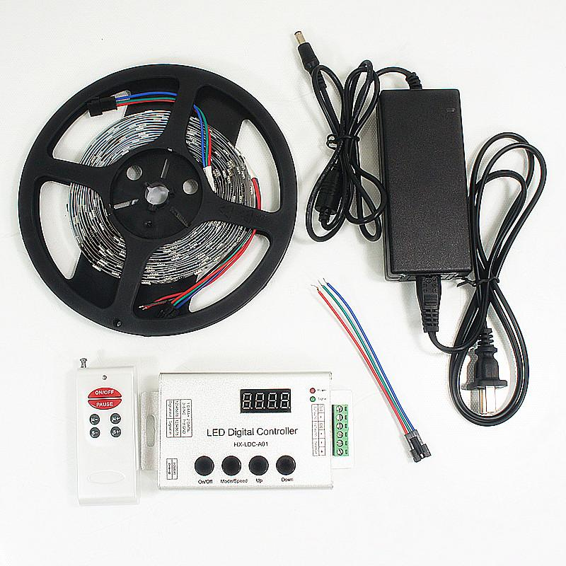 12VDC TM1914 IC Controlled Dream Color 5050 RGB Pixel LED Strip Kit 5 meters with 30LED/Mtr - LEDStrips8