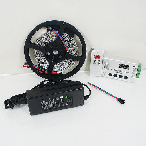 12VDC TM1914 IC Controlled Dream Color 5050 RGB Pixel LED Strip Kit 5 meters with 60LEDs /Mtr - LEDStrips8