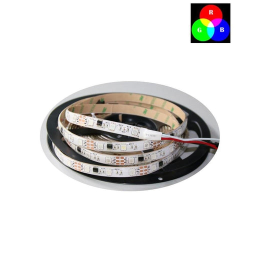 DC 12V TM1914 Breakpoint Continuingly 5050 RGB Color Changing Addressable LED Strip Light 16.4 Ft (500cm) 30LED/Mtr LED Pixel Flexible Tape White PCB - LEDStrips8