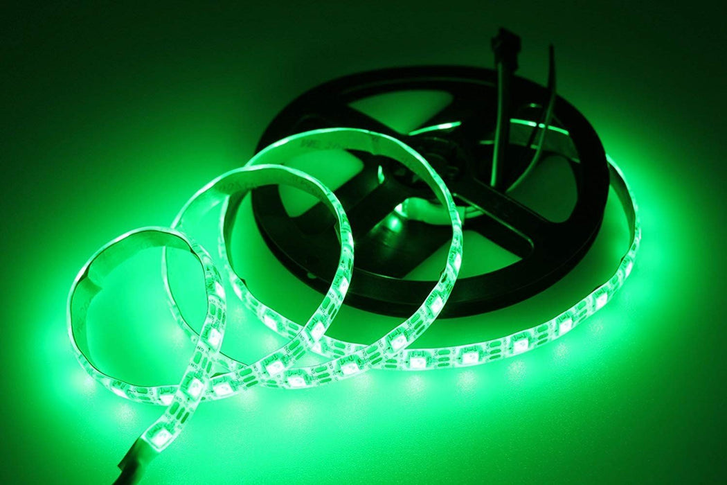 DC 5V SK6812 Individually Addressable LED Strip Light 5050 RGB 16.4 Feet (500cm) 60LED/Meter LED Pixel Flexible Tape White PCB - LEDStrips8