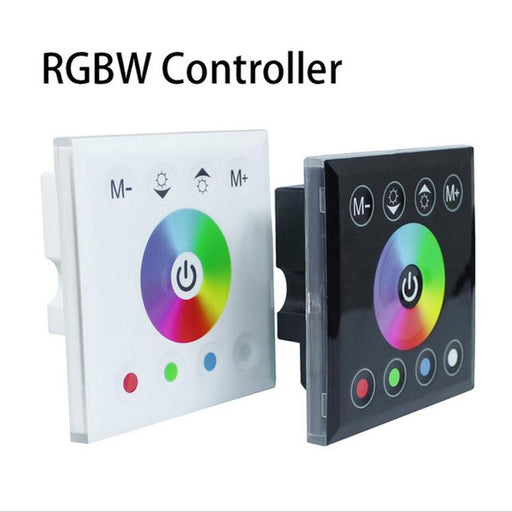 12V-24V DC Wall Panel Touchable Color Ring LED Controller for RGBW & RGBWW Color Changing LED Strips - LEDStrips8