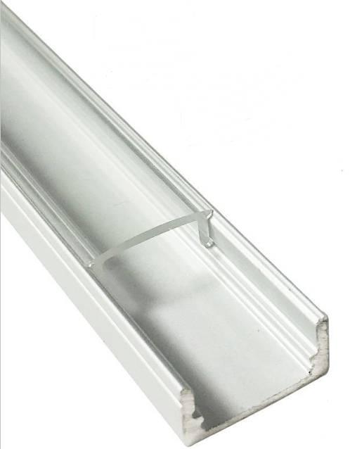 5/10/25/50 Pack Silver U02 9x17mm U-Shape Internal Profile Width 12mm LED Aluminum Channel System with Cover, End Caps and Mounting Clips for LED Strip Light Installations - LEDStrips8