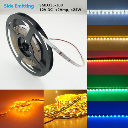 12V DC SMD335-300 Side View Flexible LED Strips 60 LEDs Per Meter 8mm Wide FPCB LED Tape - LEDStrips8