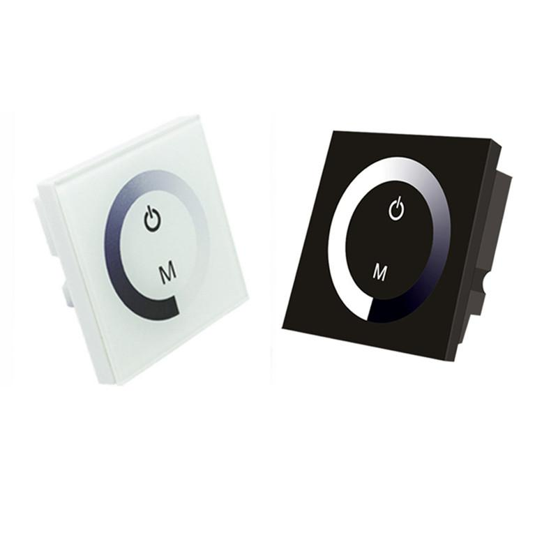12V-24V DC TM06 Wall Panel Touchable Color Ring LED Dimmer Controller for Single Color LED Strips - LEDStrips8