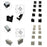 10pcs/5 Pair-Pack End Caps for LED Aluminum Channel - LEDStrips8
