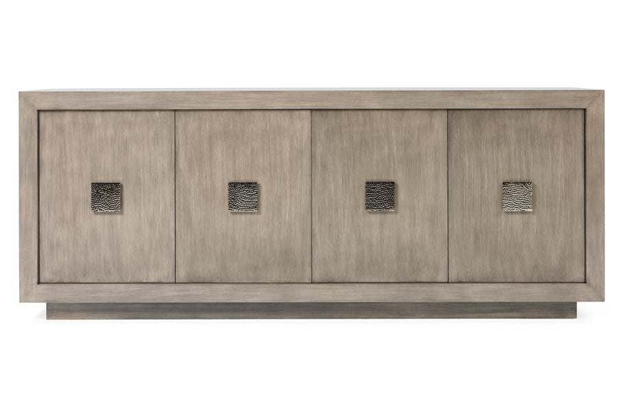 Bel Air Credenza – Truffle Polished Chrome