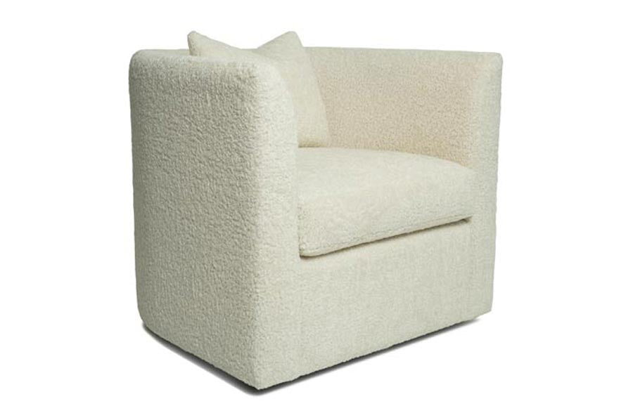Lenny Chair & Swivel Chair (Shearling)