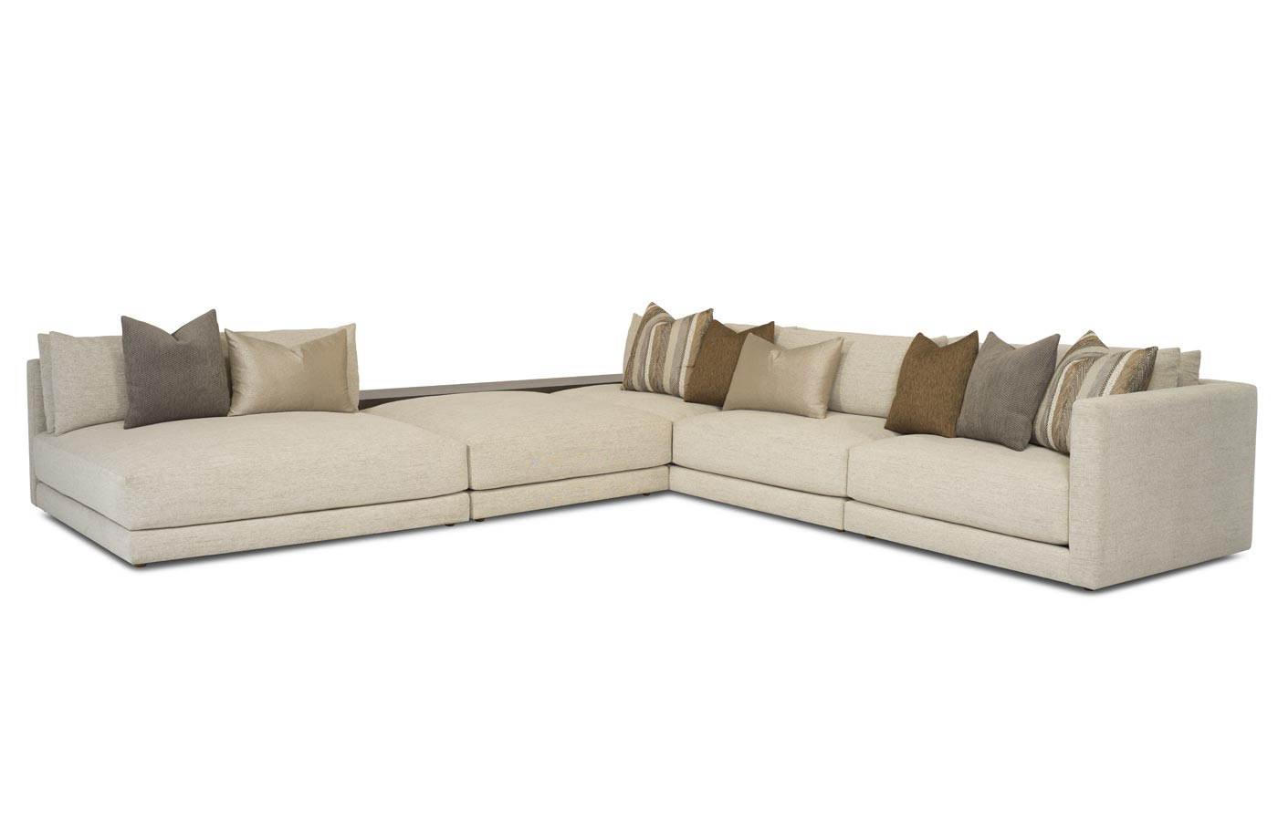Nirvana 4pc Sectional (with Optional Cliff Bookcase)