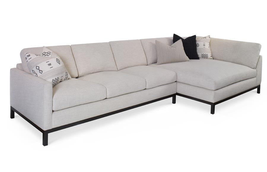 Nobu Corner Chaise 2pc Sectional
