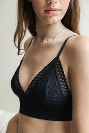 Lace Longline Bralette (4 COLORS)