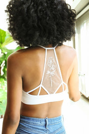 Flower Bloom Mesh Bralette