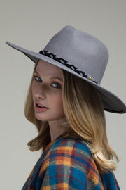 Earl Grey Panama Braid Brim Hat