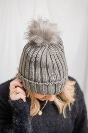 Becca Knit Poof Beanie