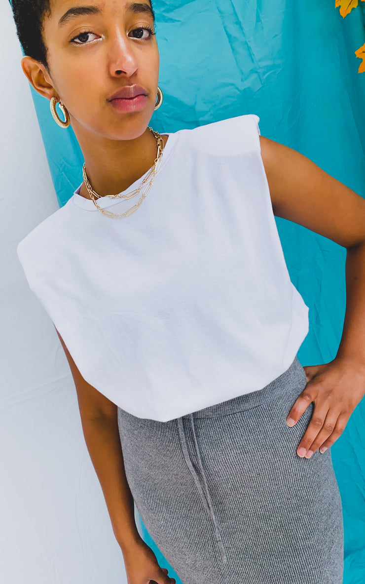 Trending Shoulder Pad Tee