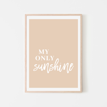 Load image into Gallery viewer, My Only Sunshine | Blush Pink You Are My Sunshine Song Lyrics