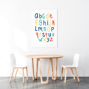 Alphabet Print | Blue Rainbow