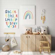 Load image into Gallery viewer, Alphabet Print | Blue Rainbow