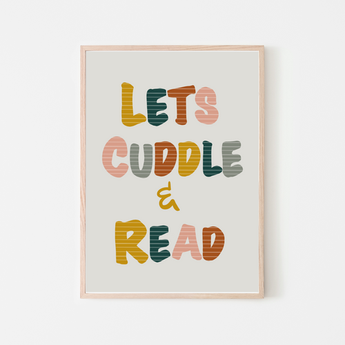 Lets Cuddle and Read |  Retro Girls Reading Nook Decor