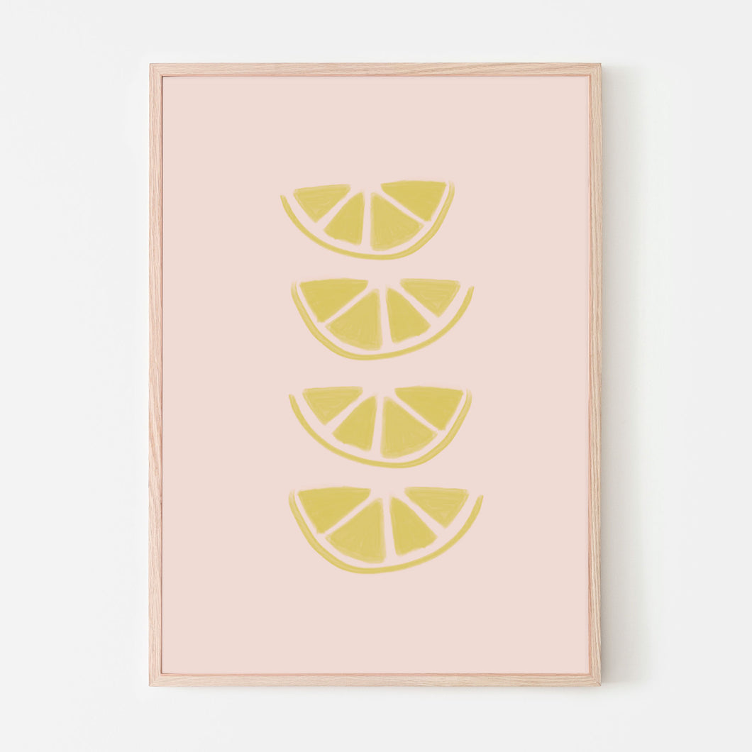 Lemon Slices Art Print