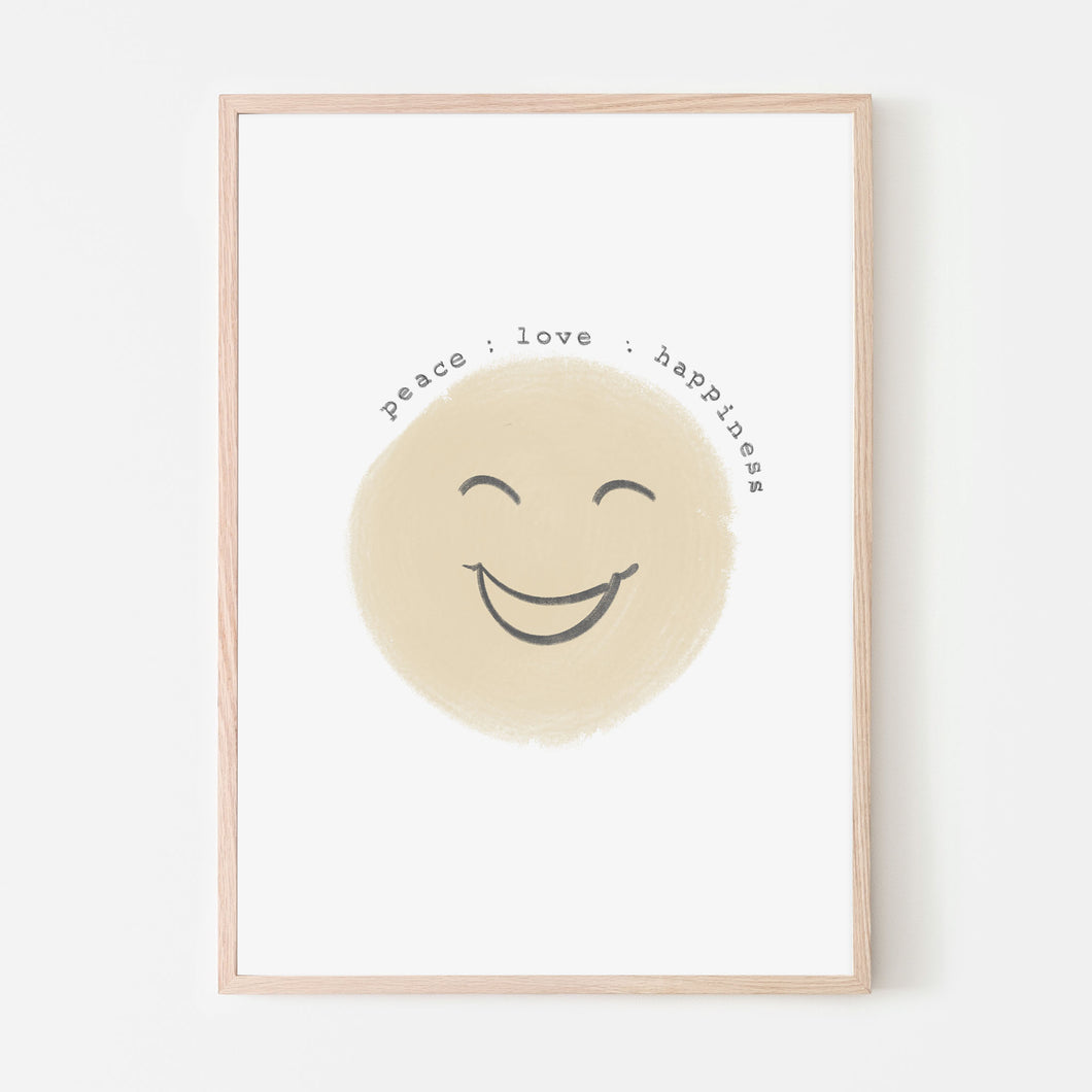 Peace : Love : Happiness | Neutral Almond