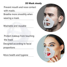 Charger l'image dans la galerie, 3D Mask Bracket  Mask Accessories Breathing Smoothly And Cool Silicone Mask Holder Breathable Valve Health Care Accessories