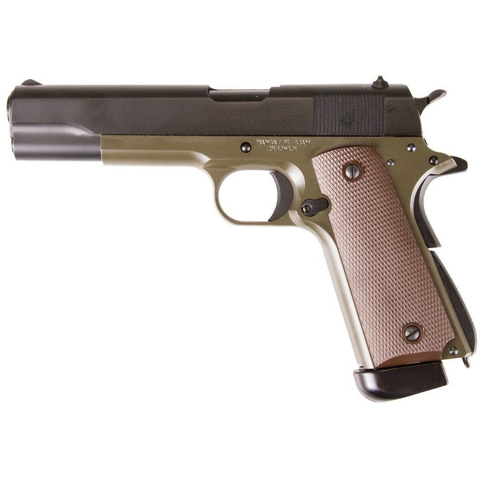 KJW 1911 Olive Drab (Co2) Airsoft Pistol - Maier Action Games