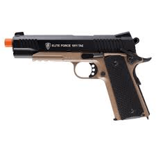 Elite Force 1911 Tactical Airsoft Pistol Black/Tan