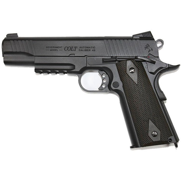 Cybergun Licensed COLT 1911 Rail Gun Black Co2 Pistol
