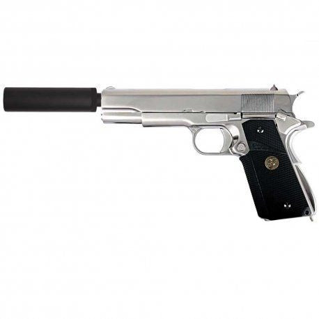 WE 1911 Chrome MEU Airsoft Pistol