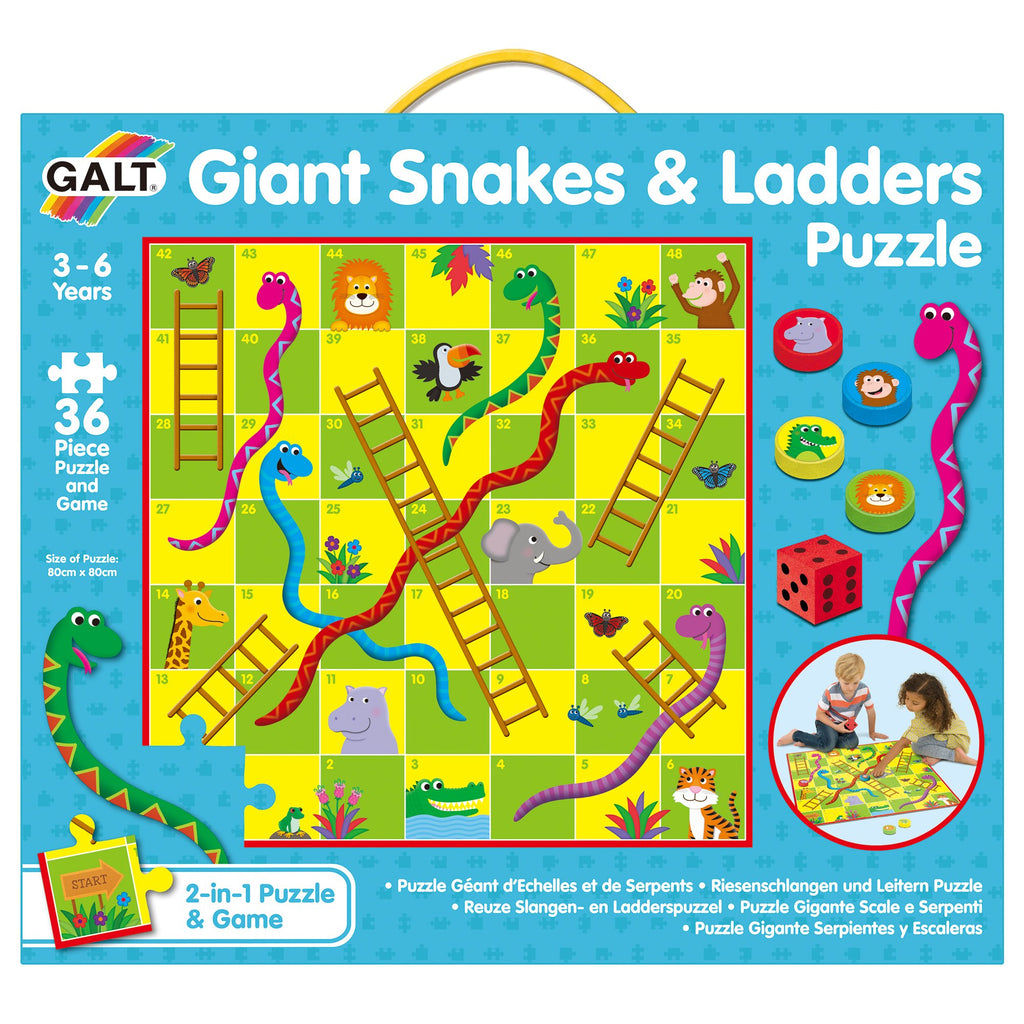 Giant Snakes and Ladders Puzzle