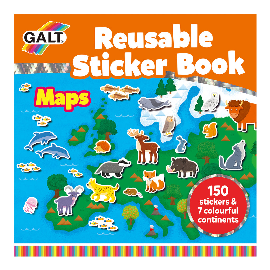 Reusable Sticker Book - Maps