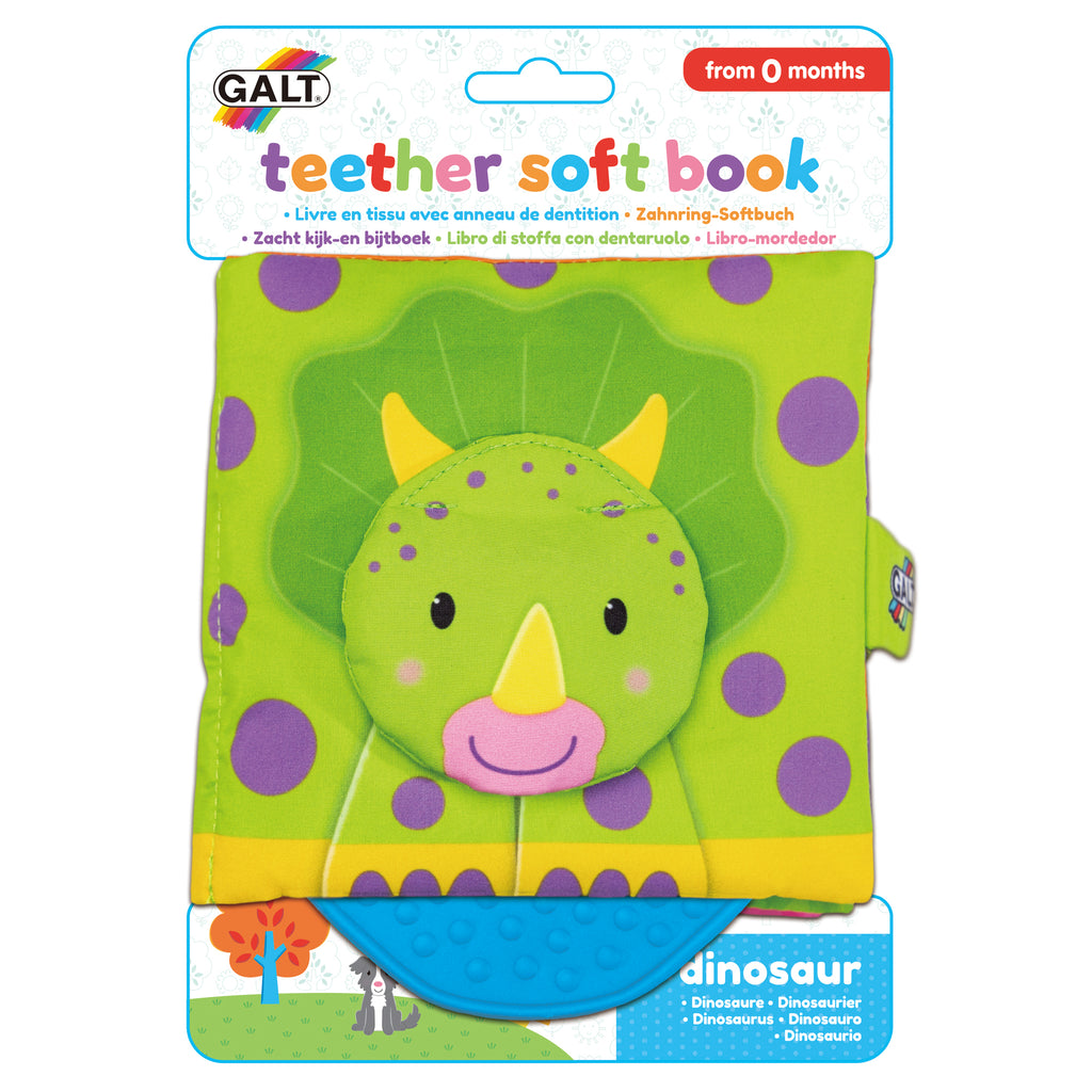 Teether Soft Book - Dinosaur