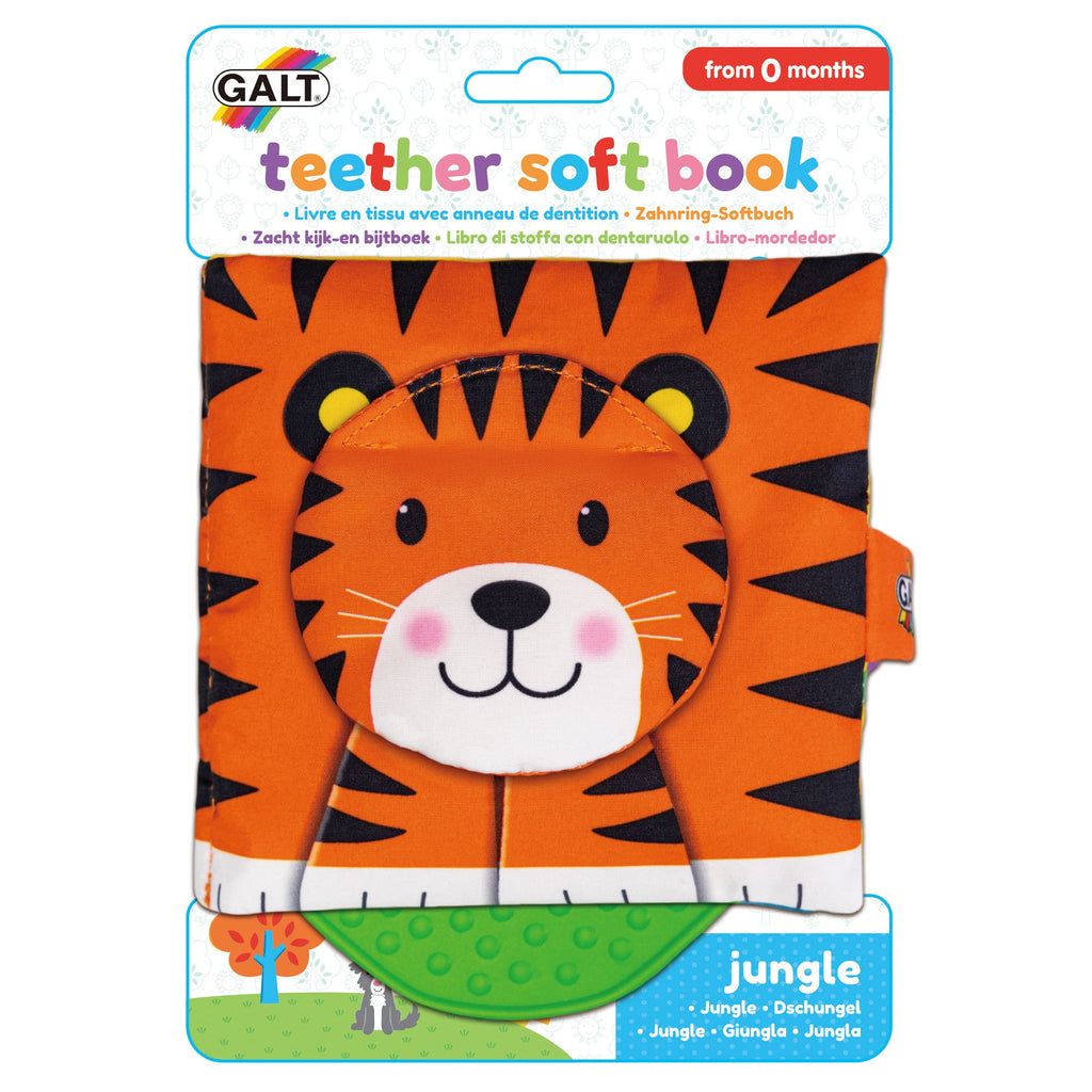 Teether Soft Book - Jungle