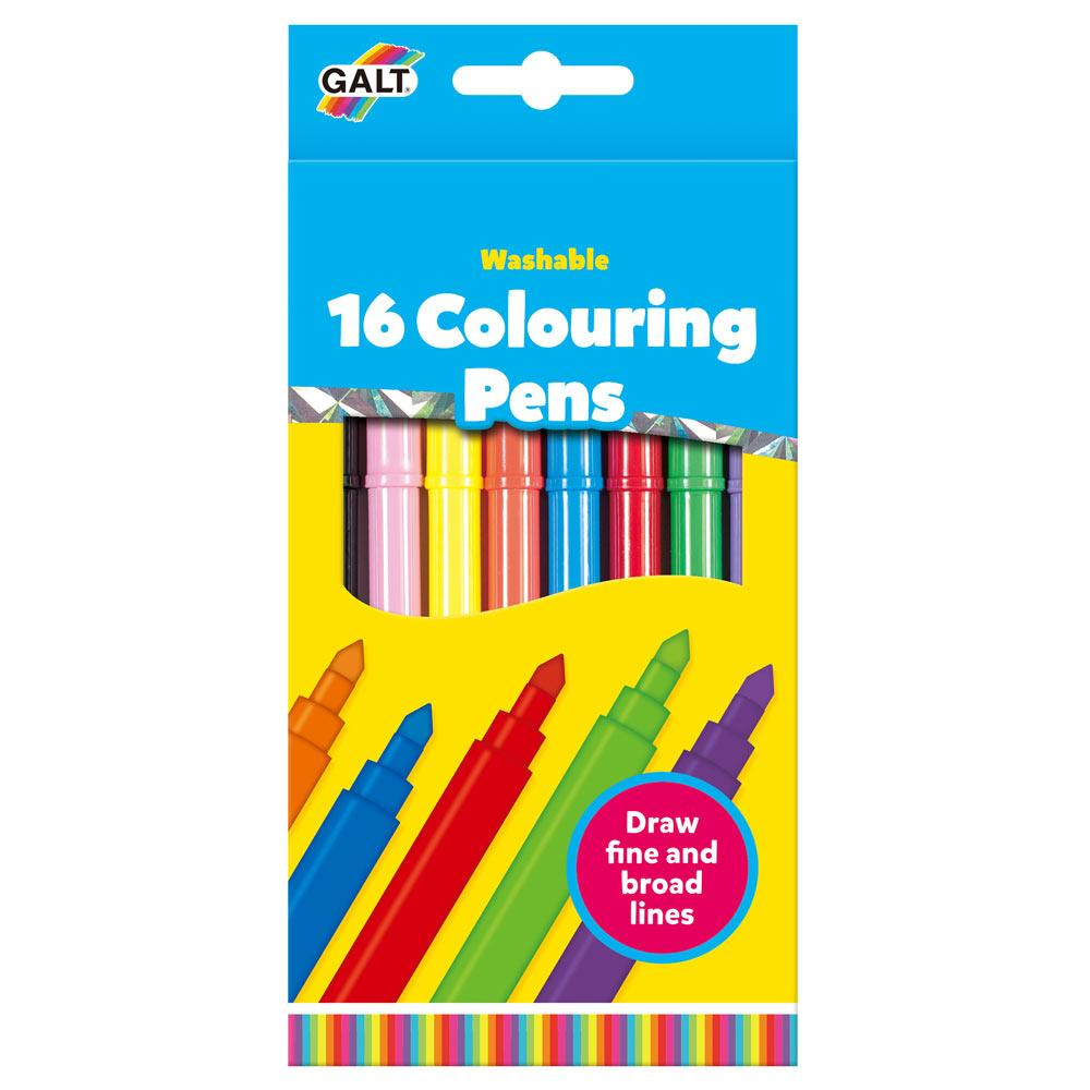 16 Colouring Pens - Washable