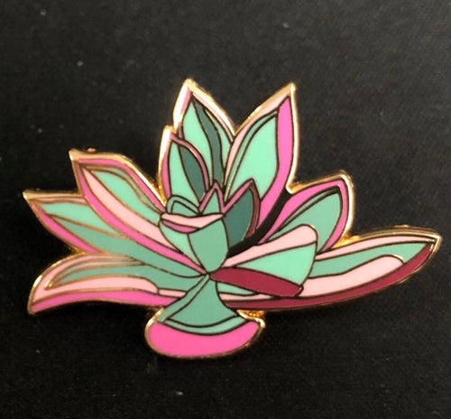 Echeveria Lapel Pin Badge