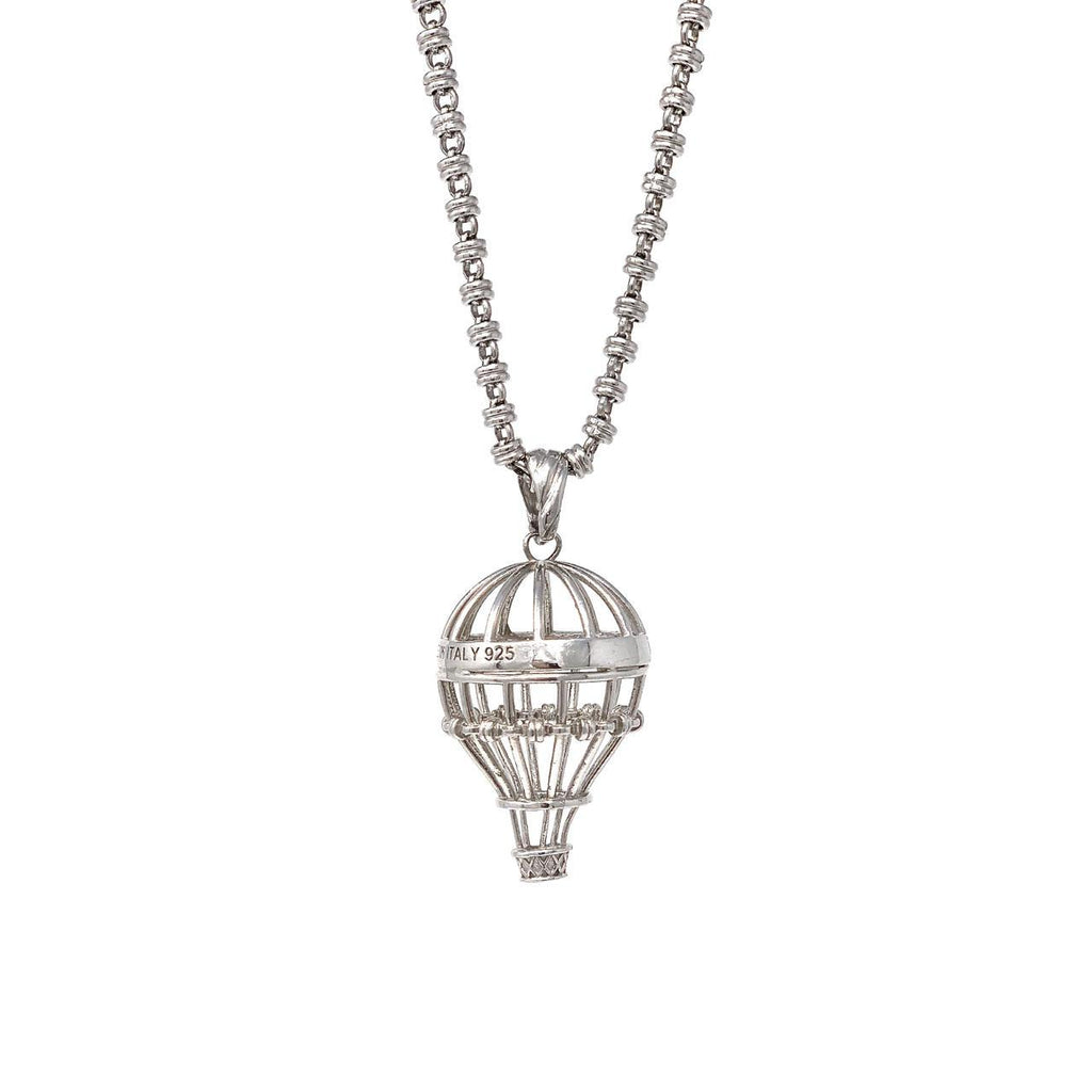 Pendant Hot Air Balloon Rhodium