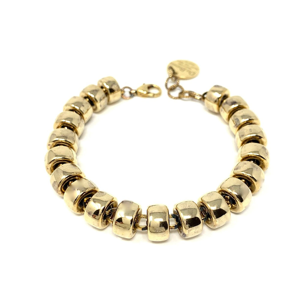 Bracelet Ciambelle 10mm Antique Gold