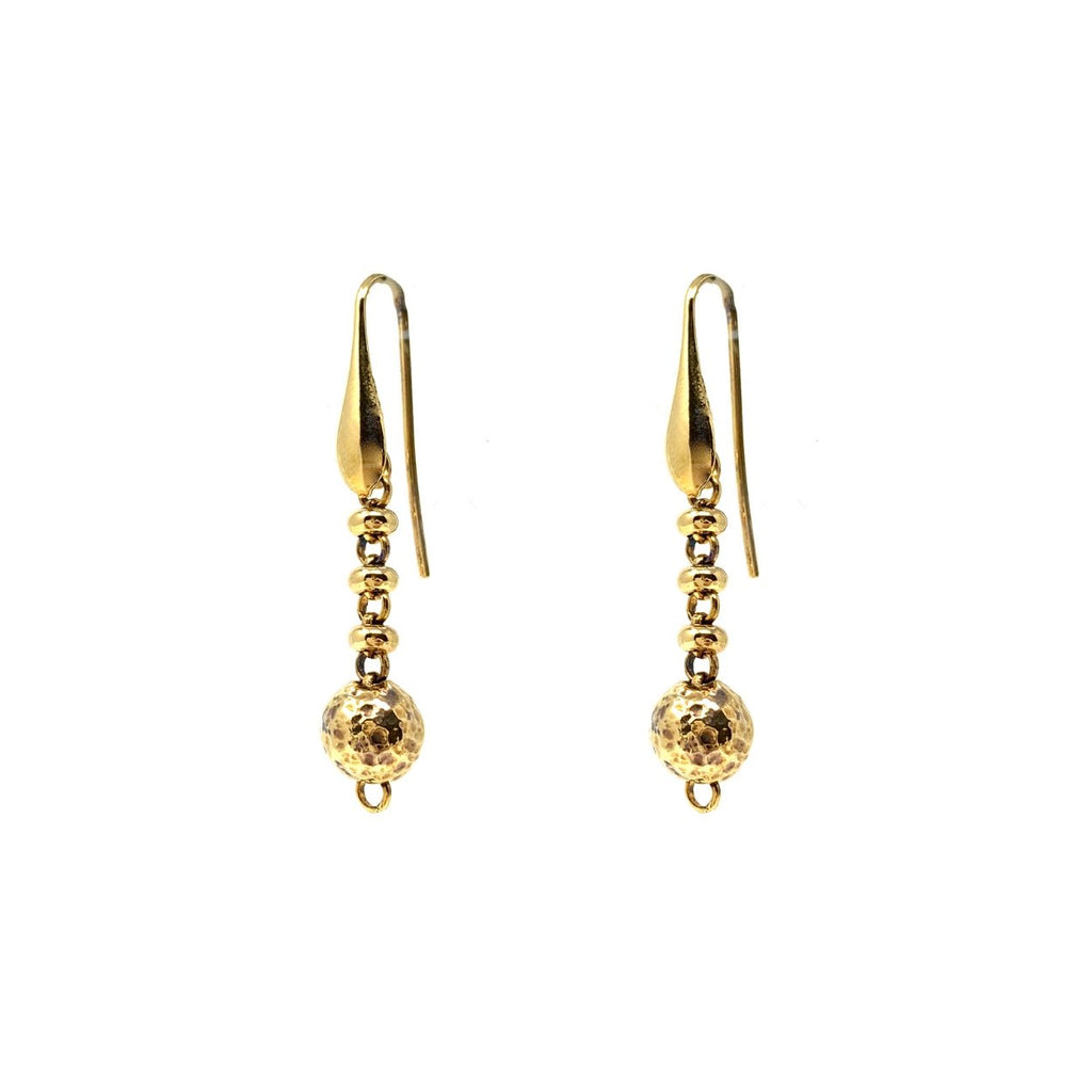 Bubbles Drop Earrings (Antique Gold)