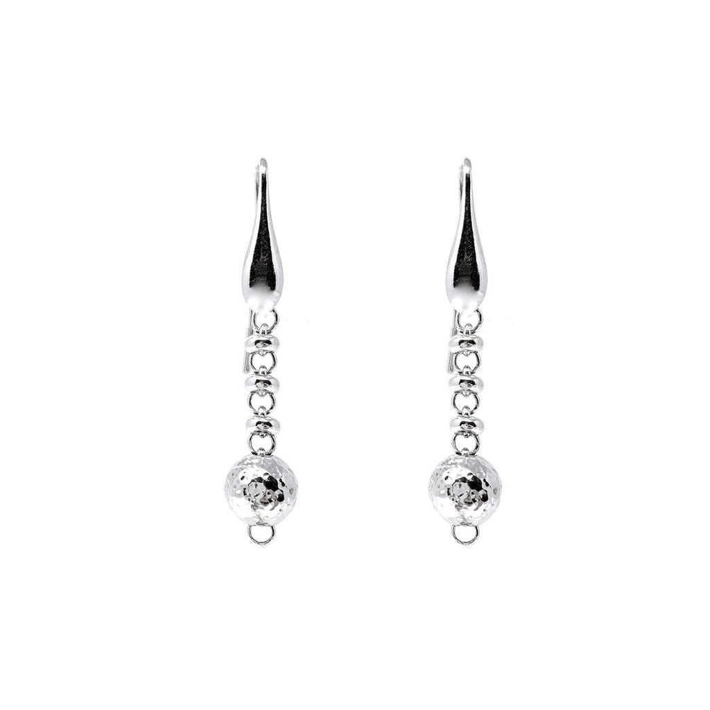 Bubbles Drop Earrings (Rhodium)