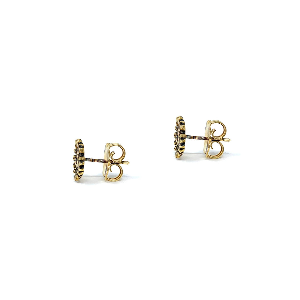 Small Sunflower Studs (Antique Gold)