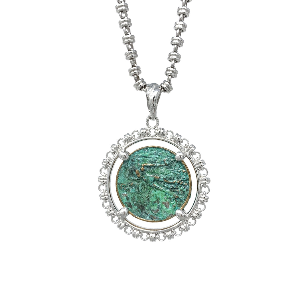 Filary Italia Coin Green (Rhodium)