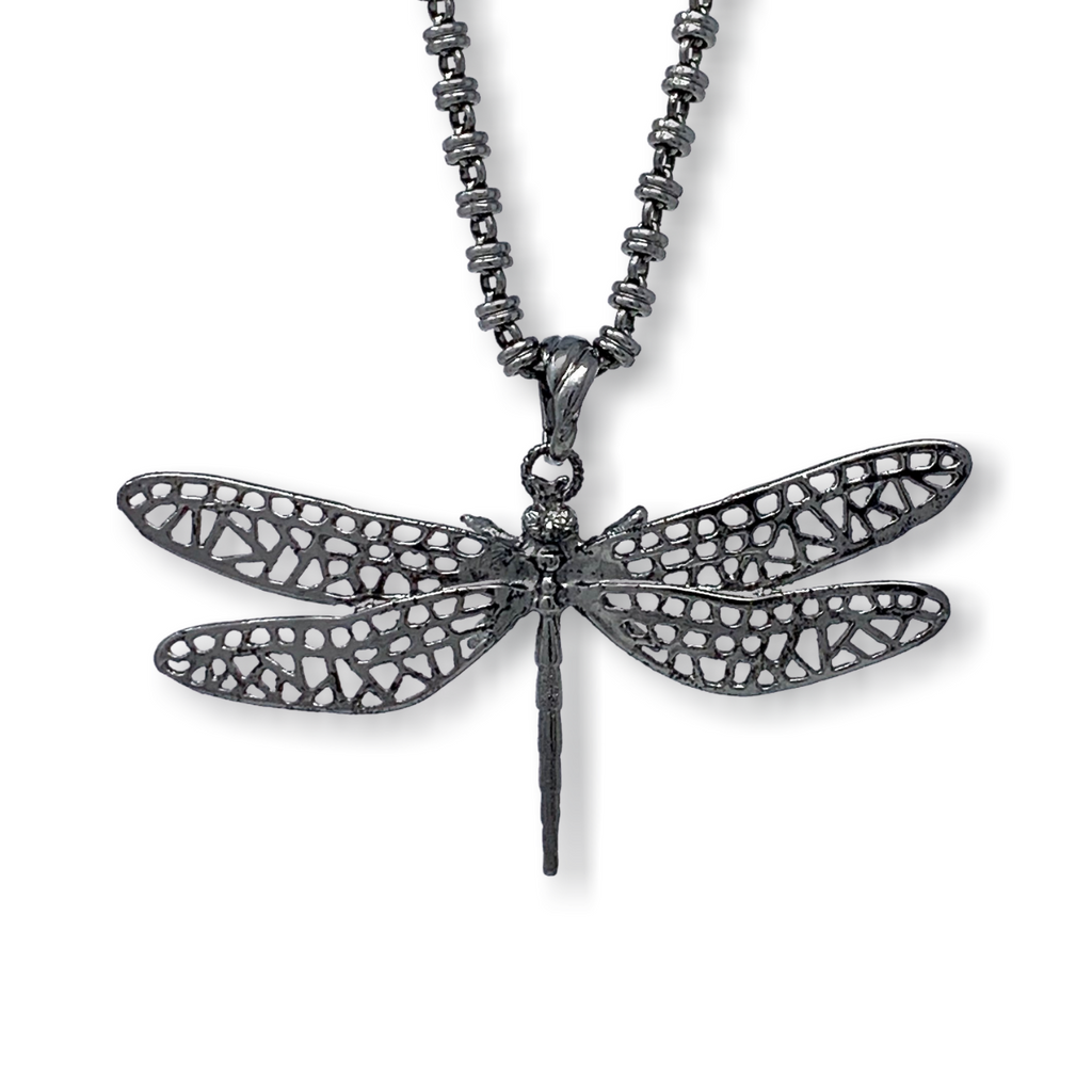 Pendant Dragonfly Large Ruthenium