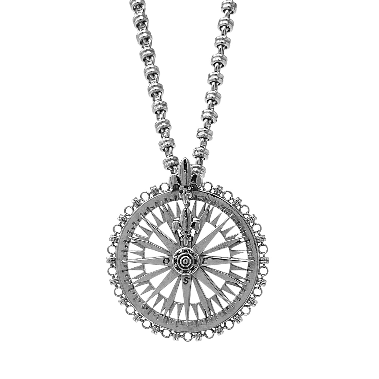 Pendant Guiding Compass Rhodium